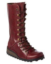 Fly London   Purple Women's Meik Leather Boot   Lyst