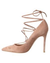 Gianvito Rossi - Brown Femi Suede Lace Up Pump - Lyst