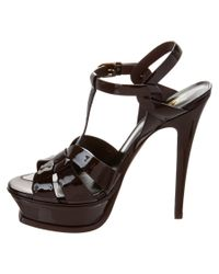 Saint Laurent - Black Classic Tribute 105 Patent Sandal - Lyst