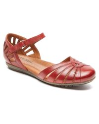 Cobb Hill | Red Irene Leather Flat | Lyst