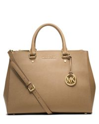 MICHAEL Michael Kors | Multicolor Sutton Large Leather Satchel | Lyst