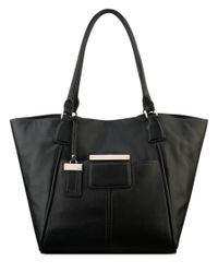 Nine West | Black City Chic Gramercy Leather Tote | Lyst