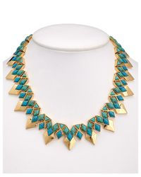Noir Jewelry | Metallic 18k Plated Turquoise Necklace | Lyst