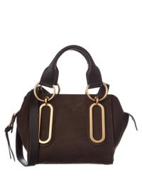 See By Chloé - Brown Paige Small Nubuck Leather Shoulder Bag - Lyst