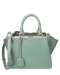 Fendi | Green Mini 3jours Leather Satchel | Lyst