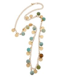 Kenneth Jay Lane   Metallic Gold-electroplated Resin 34in Necklace   Lyst