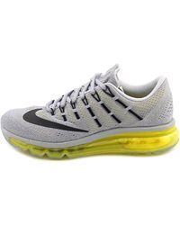 Nike - Air Max 2016 Women Round Toe Synthetic Gray Running Shoe - Lyst