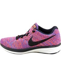 Nike   Flyknit Lunar 3 Women Round Toe Synthetic Pink Running Shoe   Lyst