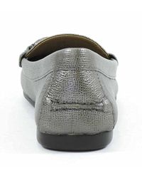 COACH | Metallic Women's Olive Pebble Grain Leather Driving Moc Loafers | Lyst