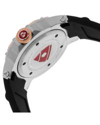 Swiss Legend - Ultrasonic Black Silicone Mother Of Pearl Dial Rose-tone Bezel for Men - Lyst