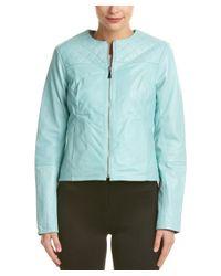 Dawn Levy   Green Leather Jacket   Lyst