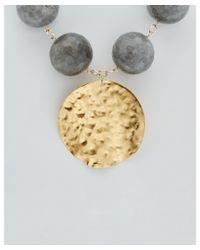 Devon Leigh | Metallic 24k & 18k Plated Agate Medallion Necklace | Lyst