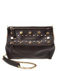 Givenchy | Black Pandora Mini Embellished Leather Chain Crossbody | Lyst