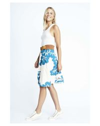 Karen Zambos - Blue Coral Virginia Skirt - Lyst