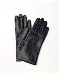 Portolano | Black Leather Gloves With Cashmere Lining | Lyst