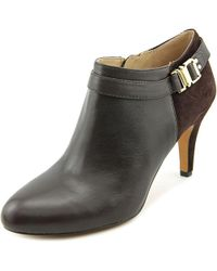 Vince Camuto - Brown Vanna Round Toe Leather Bootie - Lyst