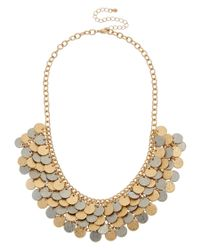 Kenneth Jay Lane | Metallic Gold-electroplated Bib Necklace | Lyst