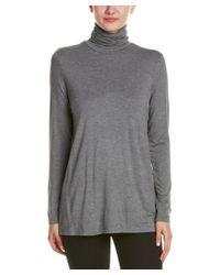 Kensie | Gray Turtleneck Top | Lyst