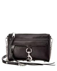 Rebecca Minkoff | Black Mac Mini Leather Shoulder Bag | Lyst