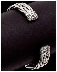 Scott Kay - Metallic Equestrian Silver Men's Weave Cuff for Men - Lyst