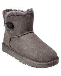 UGG | Gray Women's Mini Bailey Button Ii Water-resistant Twinface Sheepskin Boot | Lyst