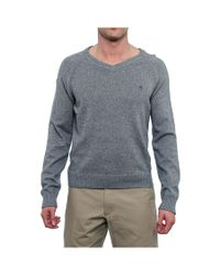 Original Penguin | Gray Long Sleeve V-neck Sweater Men Regular Sweater Top for Men | Lyst