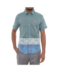 Original Penguin | Blue Short Sleeve Collared Button Down Men Regular Casual for Men | Lyst