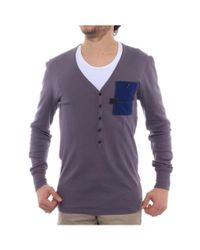 G-Star RAW   Gray Raw Radar V Granddad Long Sleevev-neck Henley Men Henley Shirt for Men   Lyst