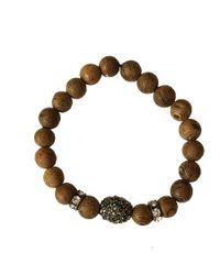 Blue Candy Jewelry   Brown Wood Pave Hematite Crystal Stretch Bracelet   Lyst