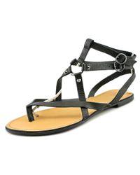 Joe's Jeans | Victor Women Open Toe Leather Black Gladiator Sandal | Lyst