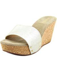 Splendid - Metallic Eurydice Women Open Toe Synthetic Gold Slides Sandal - Lyst