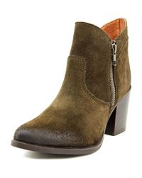 Steve Madden | Brown Pierce Round Toe Suede Ankle Boot | Lyst