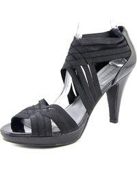 Steve Madden | Black Kelltic Women Open Toe Canvas Sandals | Lyst