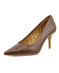Nine West | Kaydence Women Pointed Toe Leather Brown Heels | Lyst
