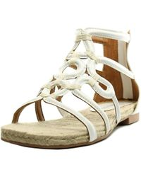Adrienne Vittadini | Picabo Women Open Toe Leather White Gladiator Sandal | Lyst