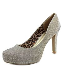 G by Guess | Metallic Lizia Women Pointed Toe Canvas Heels | Lyst