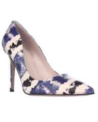 kate spade new york | Blue Kate Spade Larisa Pointed-toe Pumps - Cobalt/combo Striped Snake | Lyst