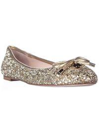 kate spade new york | Metallic Kate Spade Willa Ballet Flats - Gold Glitter | Lyst