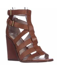 Pour La Victoire | Brown Cecile Strappy Wedge Sandals | Lyst