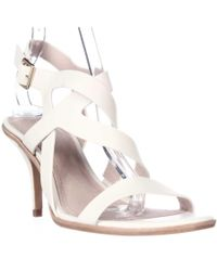 Pour La Victoire | White Maura Strappy Dress Sandals - Cream | Lyst