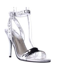 Caparros   Metallic Cassidy Jeweled Ankle Strap Dres Sandals   Lyst