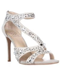 Vince Camuto | Gray Kayanne Jeweled Strappy Dress Sandals | Lyst