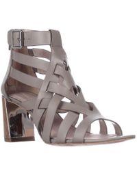 Pour La Victoire | Gray Pandora Ankle Strap Strappy Sandals - Grey | Lyst