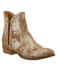 Seychelles | Metallic Lucky Penny Leather Bootie | Lyst