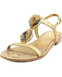 Vince Camuto | Metallic Pablo Women Open-toe Leather Bronze Slingback Sandal | Lyst