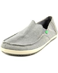 Sanuk | Gray Rounder Hobo Moc Toe Canvas Loafer for Men | Lyst