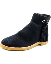 kate spade new york | Bellamy Women Round Toe Suede Black Ankle Boot | Lyst