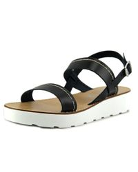 Seychelles - Black Bolder Women Open-toe Leather Slingback Sandal - Lyst