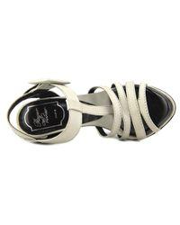 Roger Vivier - White Sandal Sorcier T.120 Peep-toe Leather Heels - Lyst
