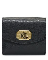 Lauren by Ralph Lauren   Black Whitby Leather French Purse Wallet   Lyst